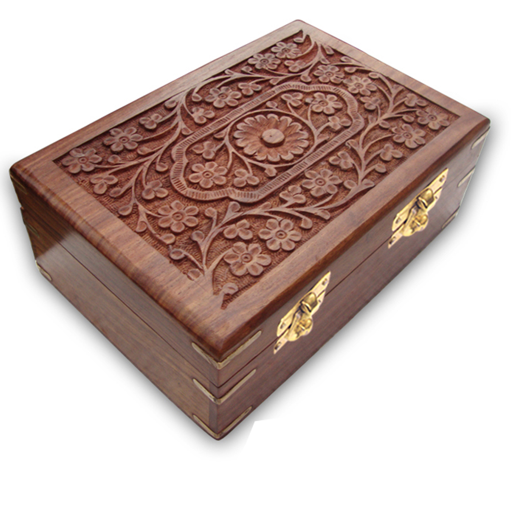 Indian wooden jewelry boxes handmade wood jewellery boxes for Jewelry box made of wood