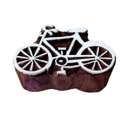 Artisan Printing Blocks Bicycle Shapes Wooden Stamps
