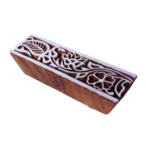 Stylish Paisley Design Border Block Print Wood Stamp