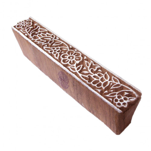 Attractive Printing Blocks Floral Border Shapes Wood Stamps
