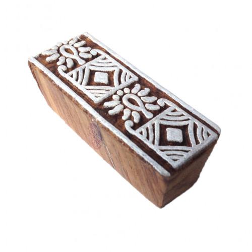 Stylish Printing Blocks Geometric Border Shapes Wooden Stamps