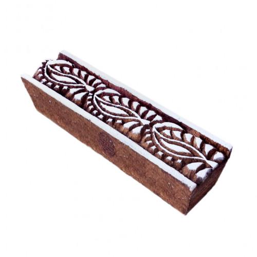 Artistic Paisley Pattern Border Wooden Printing Block
