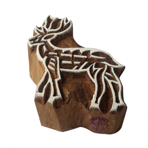 Creative Wooden Stamps Deer Pattern Printing Blocks