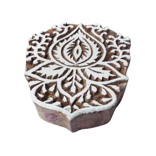 4.2 Inch Henna Wooden Block Large Banyan Tree Design Big Printing Stamp