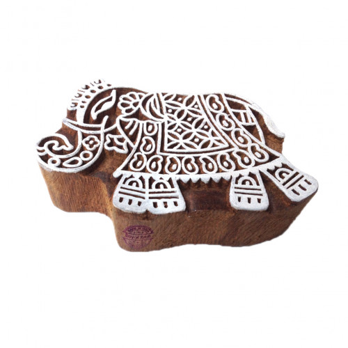 Popular Elephant Animal Design Wooden Printing Stamp