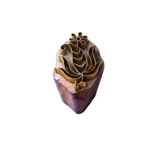 Jaipuri Print Block Brass Paisley Designs Wood Clay Stamp