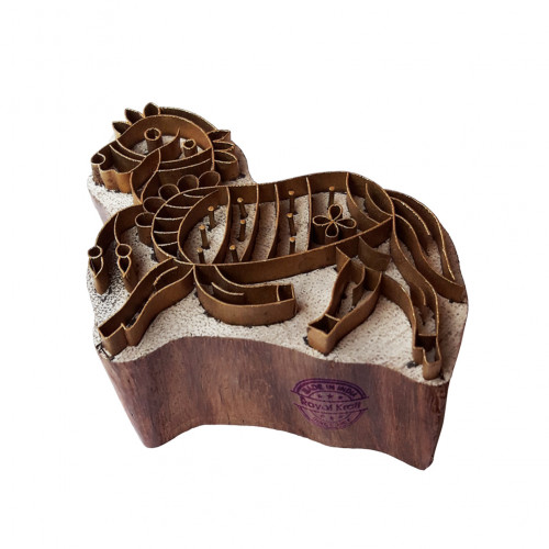 Indian Printing Stamp Brass Horse Designs Wood Pottery Block