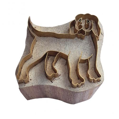 Royal kraft Decorative Shape Dog Brass Printing Stamp
