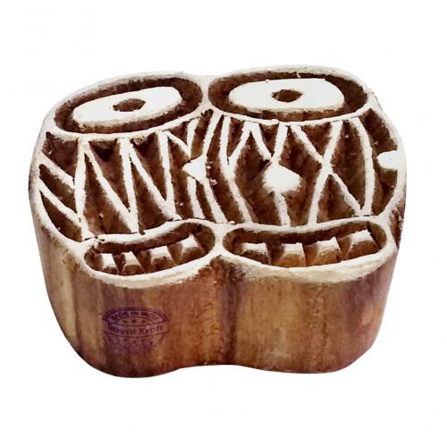 Fancy Wooden Stamps Tabla Drum Pattern Printing Blocks