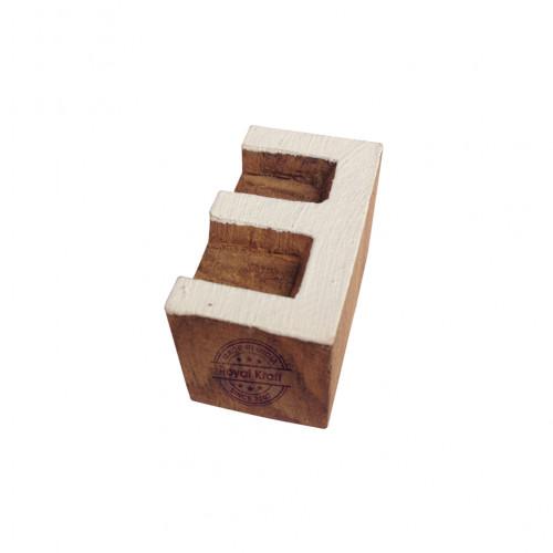 Classy Wooden Blocks Alphabet E Designs Printing Stamps