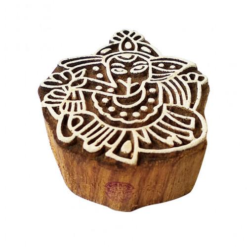 Designer Wood Stamps Ganesha Pattern Printing Blocks