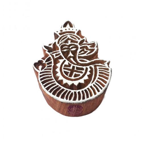 Exclusive Print Blocks Lord Ganesha Shapes Wood Stamps