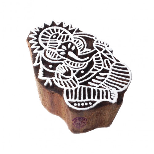 Beautiful Printing Blocks Lord Ganesha Shapes Wood Stamps