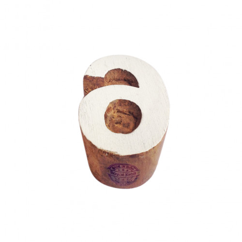 Decorative Wood Blocks Number 6 Shapes Printing Stamps