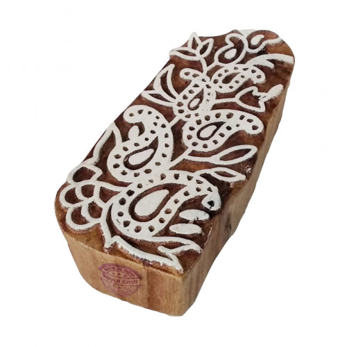 Fabric Printing Stamps Paisley Motif Wood Blocks
