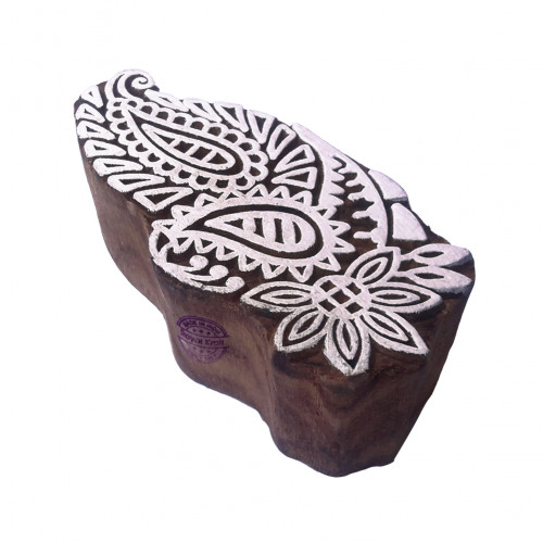 Fancy Wooden Stamps Paisley Pattern Printing Blocks