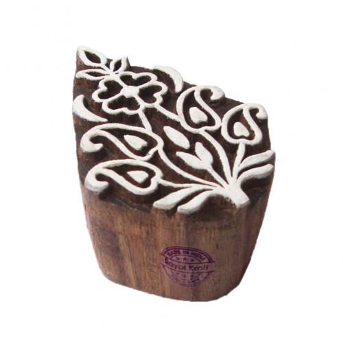 Fabric Wood Stamps Floral Paisley Pattern Printing Blocks