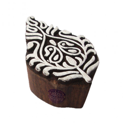 Indian Print Stamps Floral Paisley Pattern Wooden Blocks