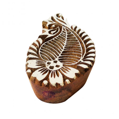 Artisan Printing Blocks Paisley Shapes Wooden Stamps