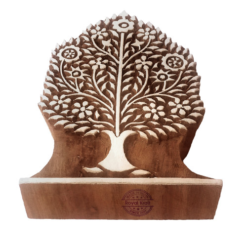 5 Inch Clay Wooden Stamp Large Tree Pattern Big Printing Block