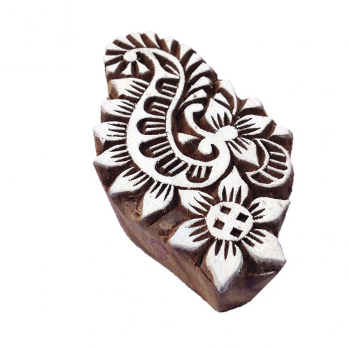 Arty Crafty Trendy Floral Pattern Wood Print Stamp