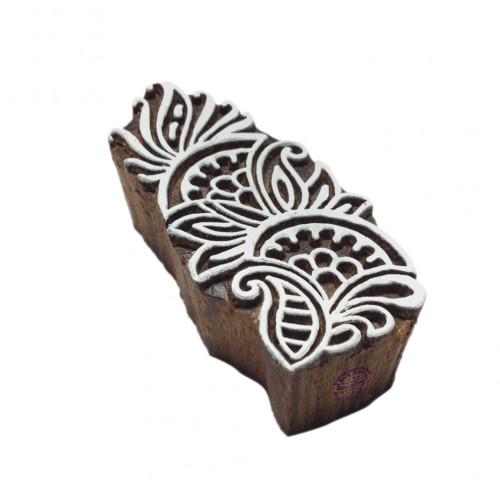 Attractive Asian Swirl Pattern Wooden Block Stamp
