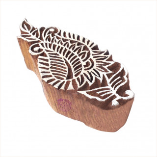 Fancy Retro Swirl Pattern Wooden Block Stamp