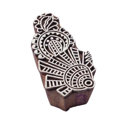 Exclusive Elegant Leaf Pattern Wooden Printing Block