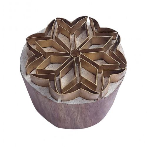 Royal kraft Jaipuri Shape Round Brass print Block