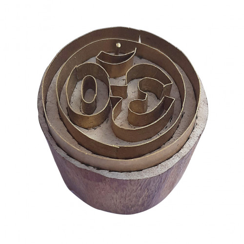 Royal kraft Artistic Pattern Round Brass print Block