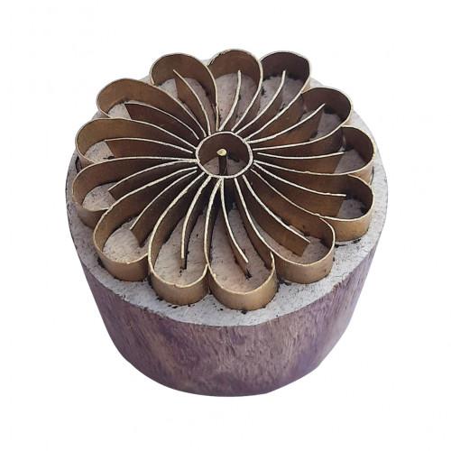 Royal kraft Handcrafted Design Round Brass Printing block