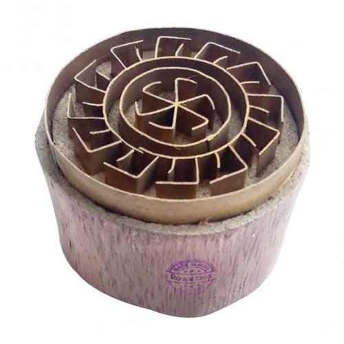 Royal kraft Jaipuri Pattern Round Brass Printing Stamp