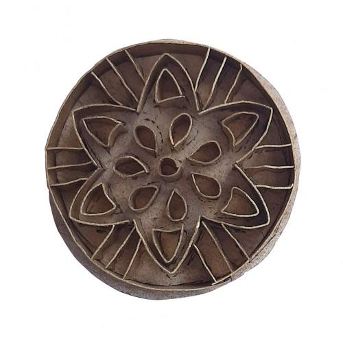 Royal kraft Ethnic Pattern Round Brass Printing Stamp
