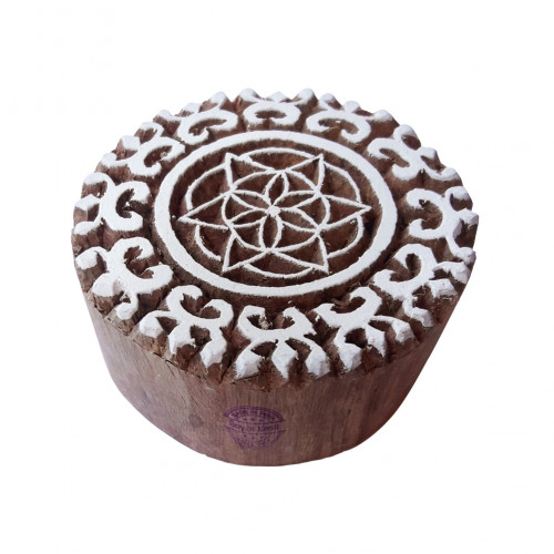 Creative Wooden Stamps Star Round Pattern Printing Blocks