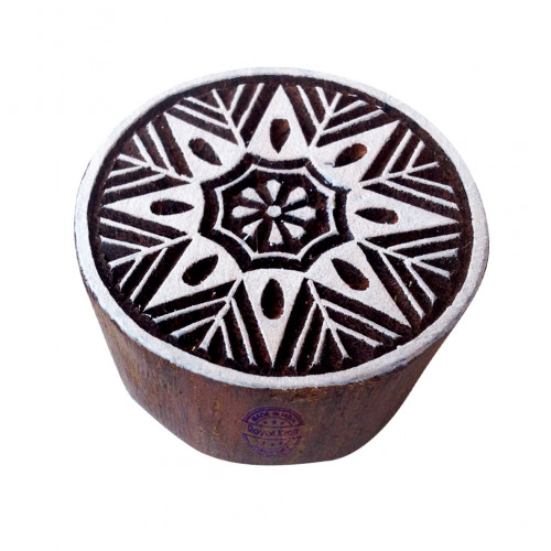 Abstract Print Blocks Flower Round Shapes Wood Stamps