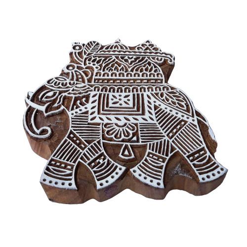 6.2 Inch Popular Printing Block Large Elephant Shape Big Wood Stamp