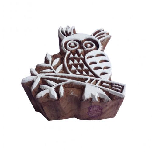 Innovative Owl Bird Shape Wood Block Stamp