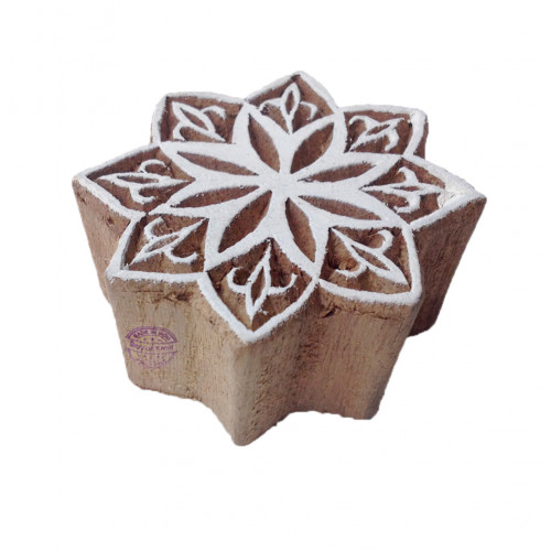 Original Printing Blocks Star Shapes Wood Stamps