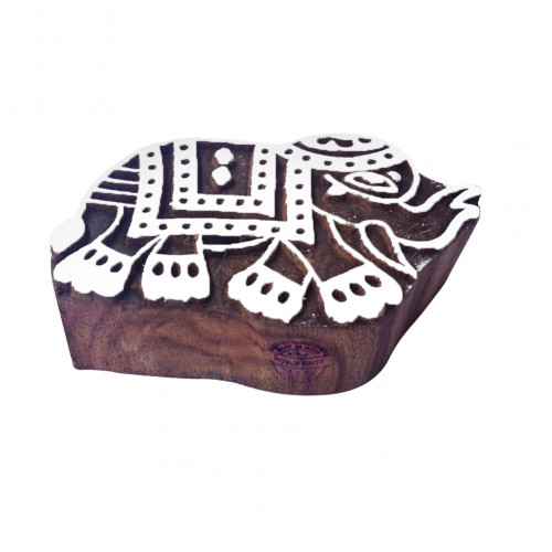 Crafty Elephant Animal Motif Wood Block for Printing