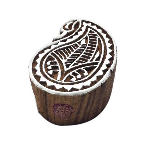 Designer Paisley Popular Pattern Wood Print Textile Stamp