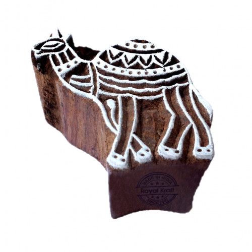Exquisite Camel Animal Design Wood Stamp for Printing