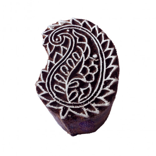 Ethnic Paisley Fancy Design Wood Stamp for Printing