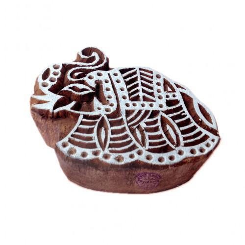 Beautiful Elephant Animal Shape Wooden Block for Printing