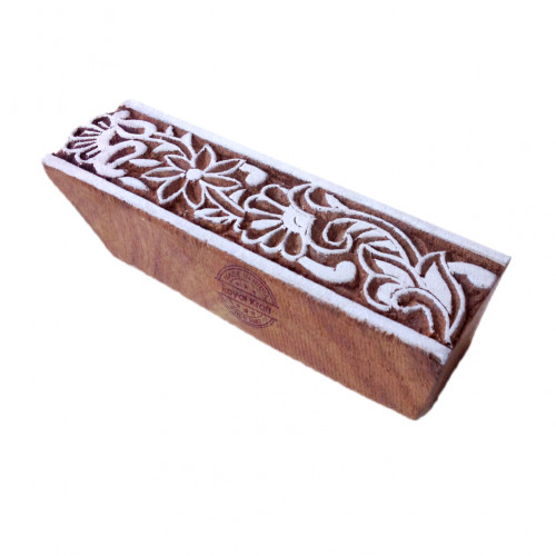 Oriental Floral Shape Border Wooden Block for Printing