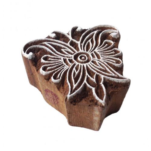 Attractive Floral Pattern Leaf Wooden Block Printing Stamp