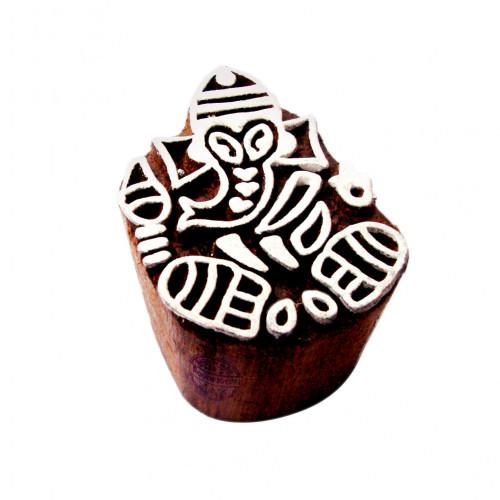 Royal kraft Stamp Wooden Ganesha Printing Block