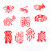 (Set of 10) Paper Print Stamps Handcarved Small Animal Pattern Wood Blocks
