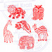 (Set of 6) Original Designs Bird and Animal Wood Print Stamps