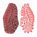 Clay Print Stamps Flower Pattern Wooden Blocks