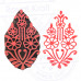 Clay Printing Stamps Floral Paisley Motif Wooden Blocks